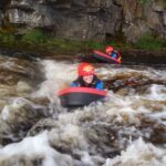 Woman hydrospeeding on the River Tees