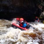 Man Hydrospeeding on the River Tees