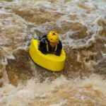 White water hydrospeeding on the River Tees