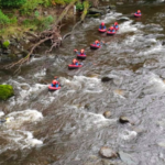 Hydrospeeding group on the River Tees